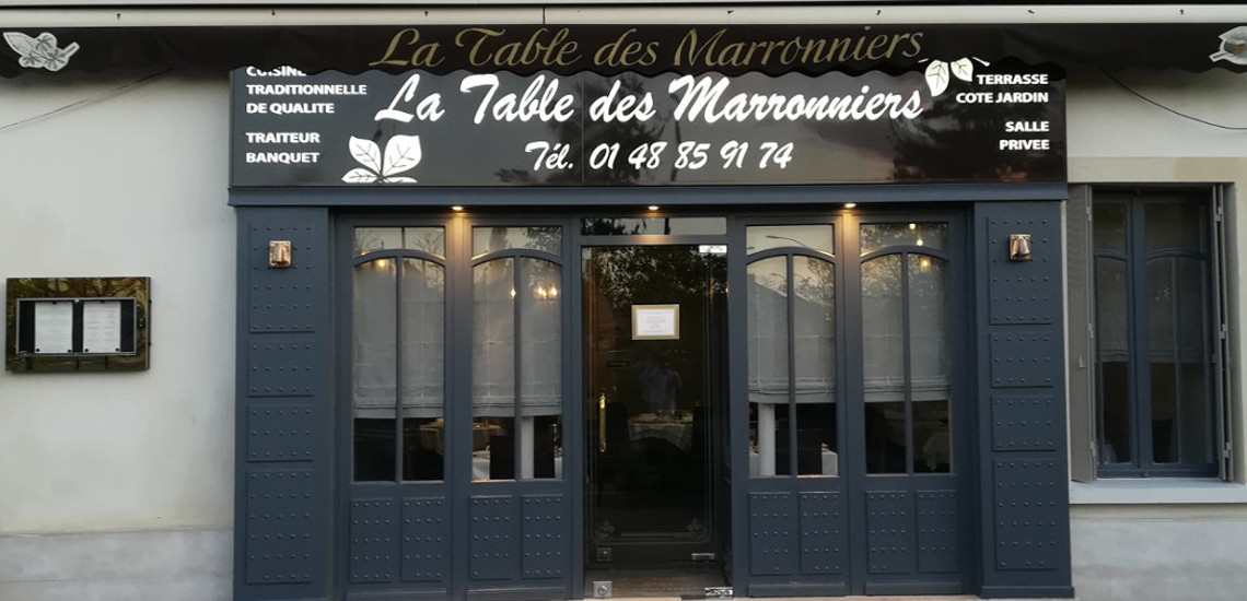 Restaurant La Table Des Marronniers St Maur